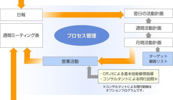 チーム営業によるマネジメント体制構築